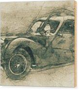 Bugatti Type 57 - Atlantic 3 - 1934 - Automotive Art - Car Posters Wood Print