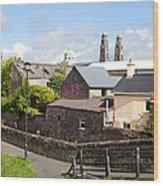 Buildings In A Town, Mullingar, County Wood Print