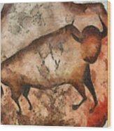 Bull A La Altamira Wood Print
