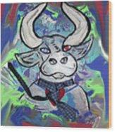 Bullish - A Bull With A Heart - Untie Me Wood Print