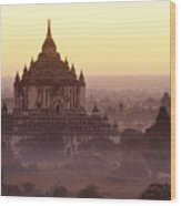 Burma Landscape Wood Print