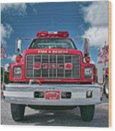 Burnington Iolta Fire Rescue - Tanker Engine 1550, North Carolina Wood Print