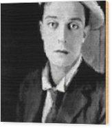 Buster Keaton, Legend Wood Print