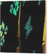 Butterflies Drying Wood Print