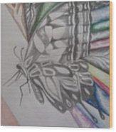 Butterfly Light Wood Print