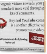 Buy Youtube Comments Wood Print