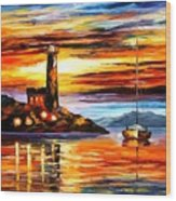 By The Lighthouse Wood Print