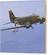 C-47 Gooney Bird At Salinas Wood Print