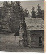 Cabin On The Blue Ridge Parkway - 15 Wood Print