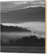 Cades Cove Dawn Wood Print