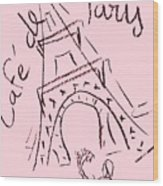 Cafe De Paris Wood Print