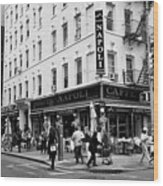 caffe napoli on the corner of mulberry street and hester st  little italy New York City USA Wood Print