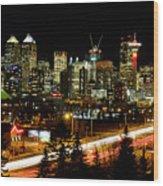 Calgary Skyline Wood Print