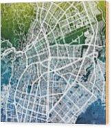 Cali Colombia City Map Wood Print