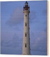 California Lighthouse In Noord Aruba Wood Print