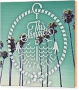 California Palms I Wood Print