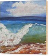 California Seascape Wood Print
