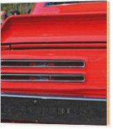 Firebird Tail Light Wood Print