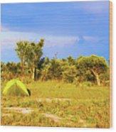 Camp Ground Near Kasane In Botswana Wood Print