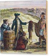Canada: Fur Traders, 1777 Wood Print by Granger