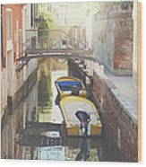 Canals Of Venice With Instagram Vintage Style Filter Wood Print