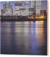 Canary Wharf London  Wood Print