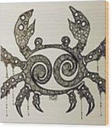 Cancer Wood Print