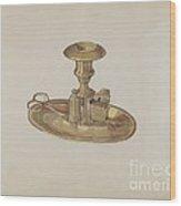 Candlestick Wood Print