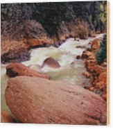 Canyon Creek Ouray Colorado Wood Print