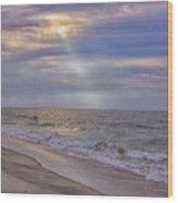 Cape May Beach Wood Print