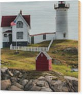 Cape Neddick Lighthouse 4 Wood Print