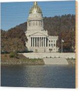 Capital Of West Virginia In Charleston Wood Print