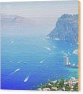 Capri Island, Italy Wood Print