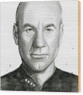 Captain Picard Wood Print
