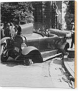 Car Accident, C1919 Wood Print