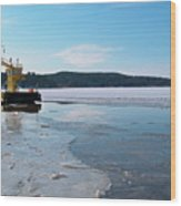 Car Ferry Wood Print