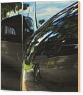 Car Reflection 8 Wood Print