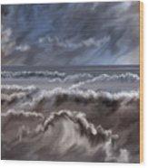 Caramel Seas Wood Print
