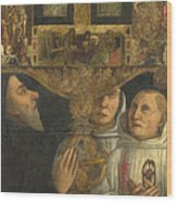 Cardinal Bessarion With The Bessarion Reliquary Wood Print