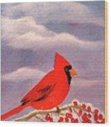 Cardinal Christmas Wood Print