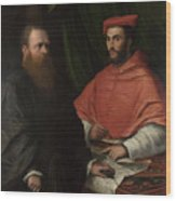 Cardinal Ippolito De Medici And Monsignor Mario Bracci Wood Print