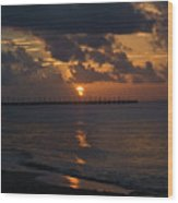 Caribbean Early Sunrise Wood Print