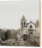 Carmel Mission By A.j. Perkins 1880 Wood Print