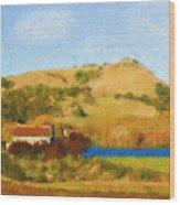 Carneros Valley Wood Print