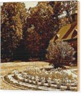 Carriage House Garden Wood Print
