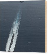 Carrier Strike Group Formation Of Ships Wood Print by Stocktrek Images