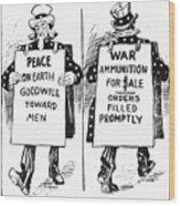 Cartoon: U.s. Neutrality Wood Print