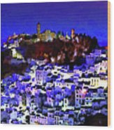 Casares By Night Wood Print