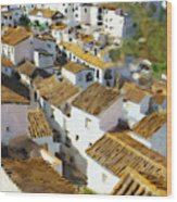 Casares Rooftops Wood Print