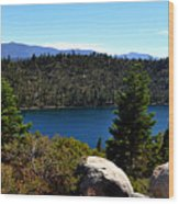 Cascade Lake Wood Print